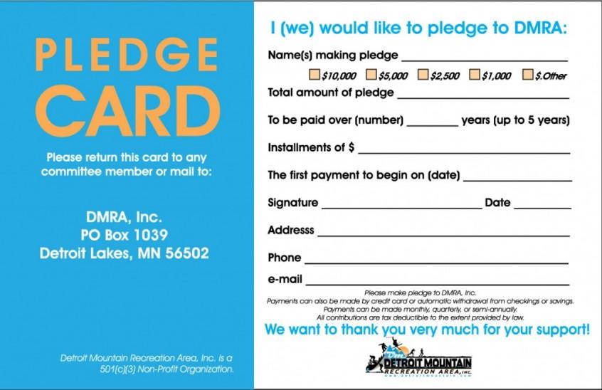 Pledge Card Template Stereosomos Pledge Card Template