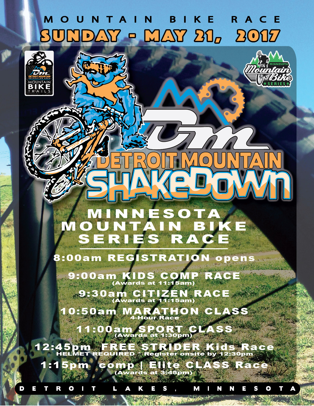 dm shakedown mtn bike race detroit mountain