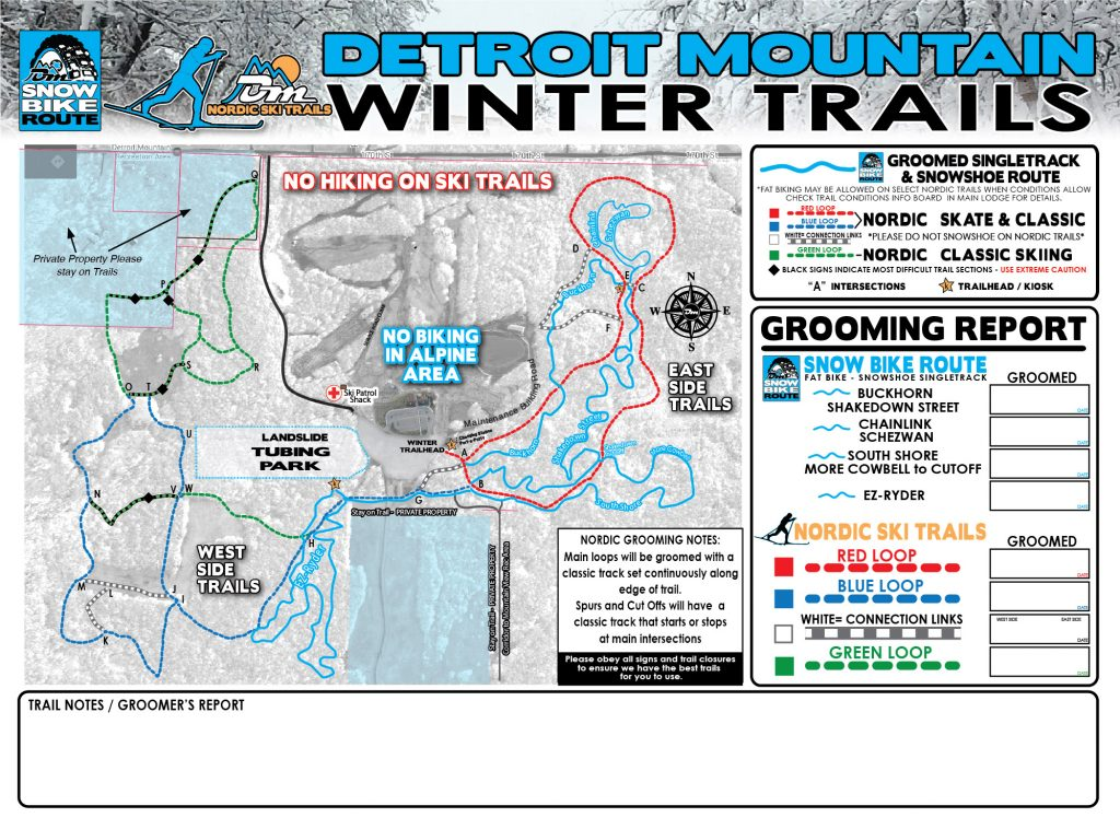 Groom Winter Trails Map