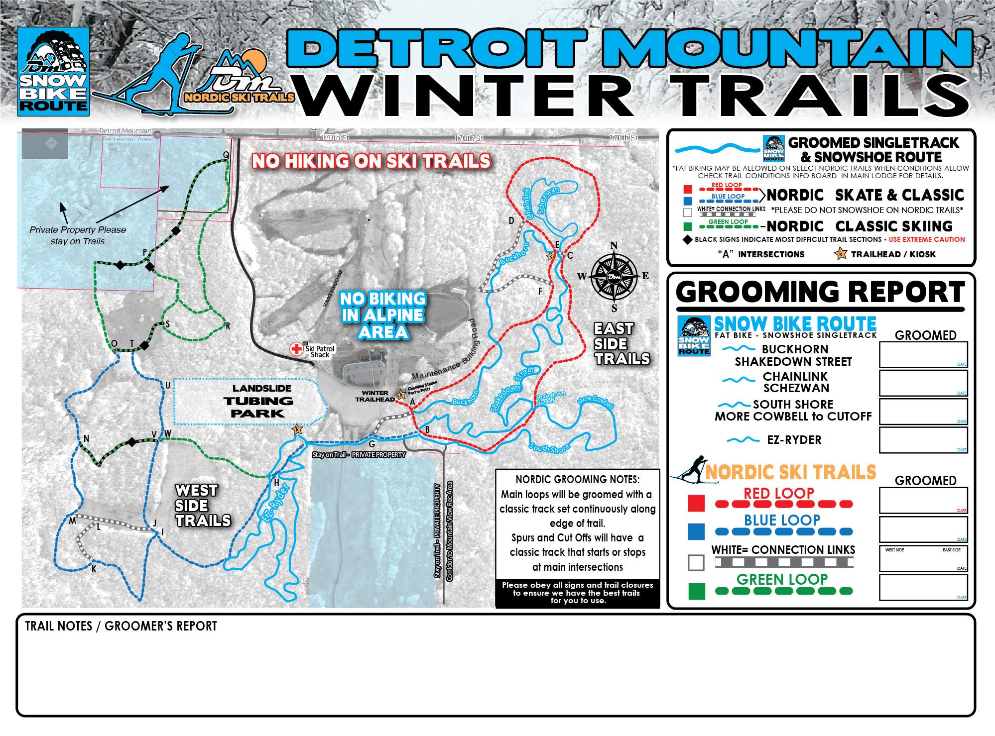 Mountain Biking Map Detroit Mountain