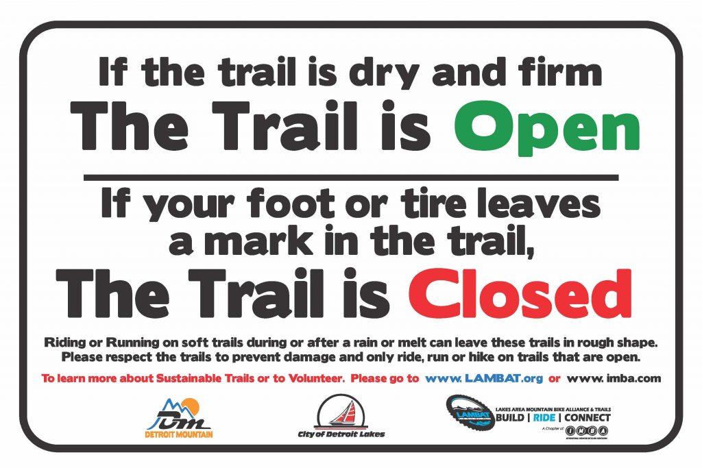 Trail Gate Sign