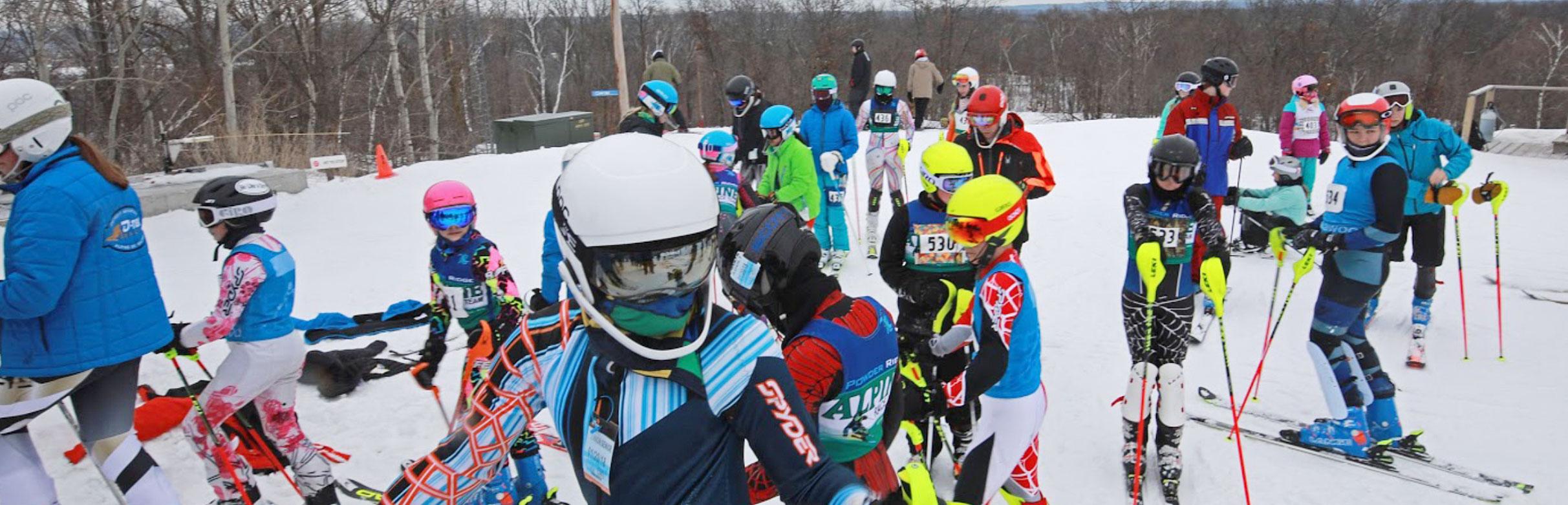 Detroit Mountain Alpine Ski Team on the slope