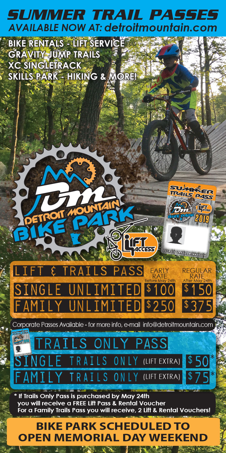 Detroit Mountain Summer Mountain Bike Park Passes